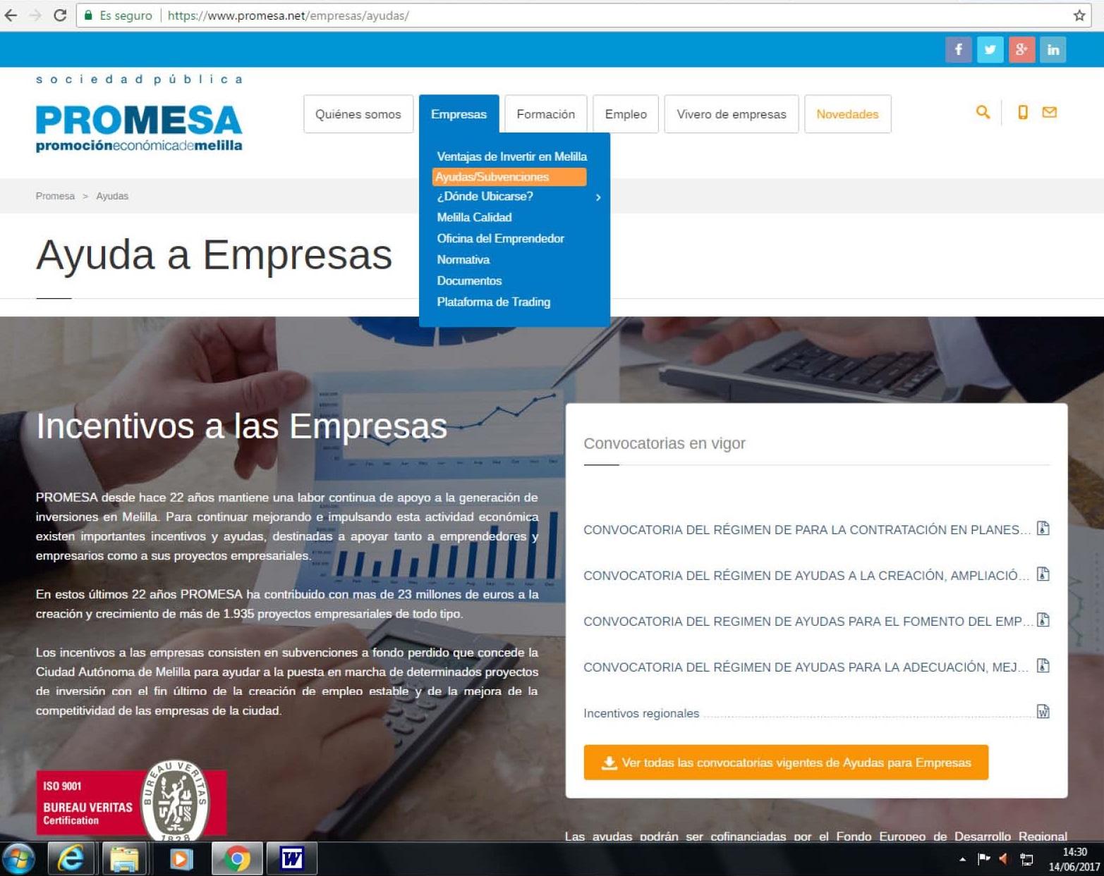 PROYECTO MELILLA DESTINA 775.000€ A LOS PLANES DE INSERCIÓN